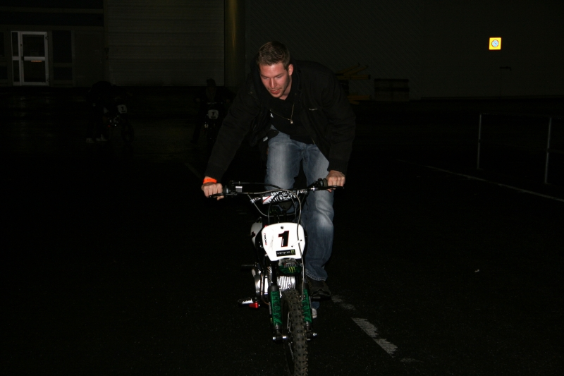 Guddo trying out the new bike!