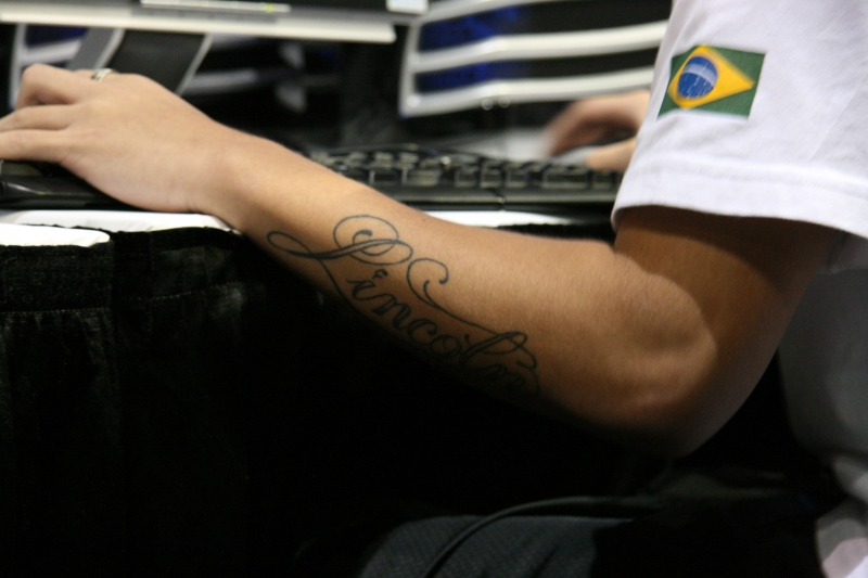 fnx from Made in Brazil got his name tatooed on his forearm.