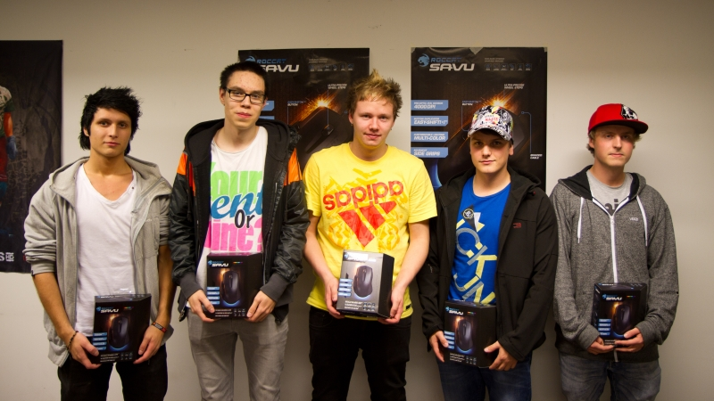 nRO, tOZ, suNny, shaker & dRiim placed third with Green and won ROCCAT Savu mice