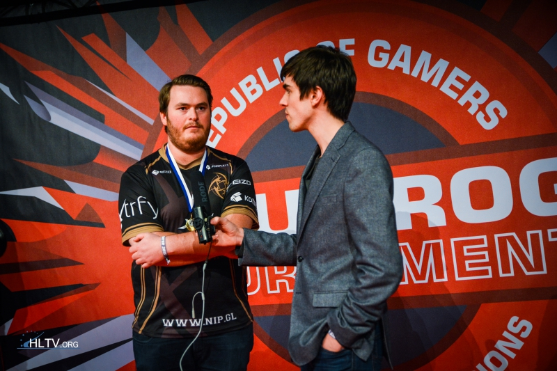 Striker interviews friberg after the grand final