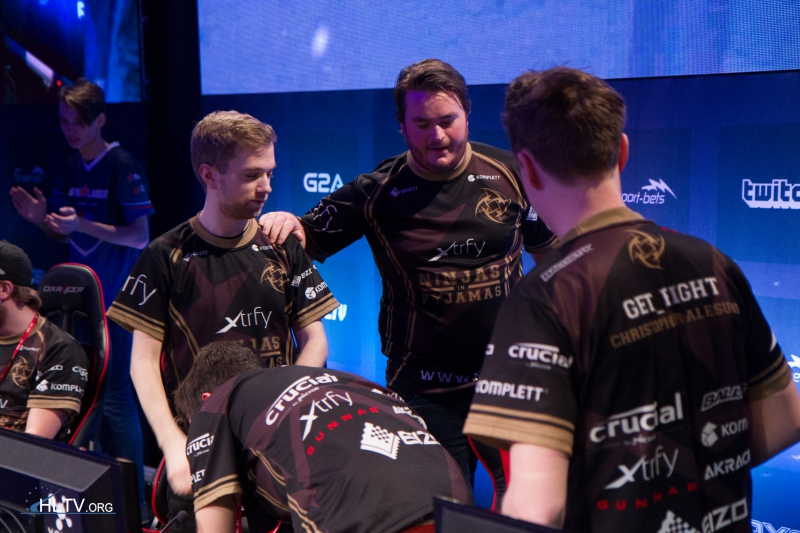 NiP after their first map win over Titan
