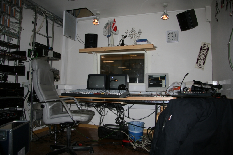 Bigscreen and music control-room.