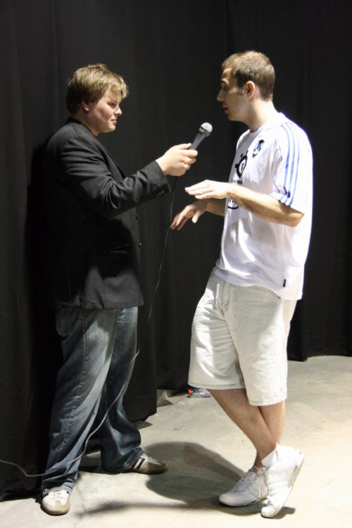 Taz from MYM being interview by German readmore.