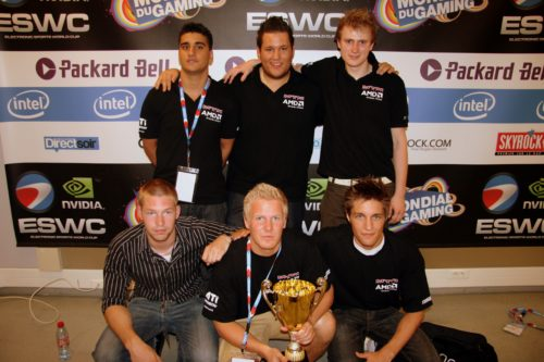 mTw team photo with the ESWC Masters trophy.