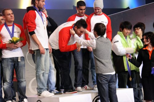 zonic getting his gold medal.