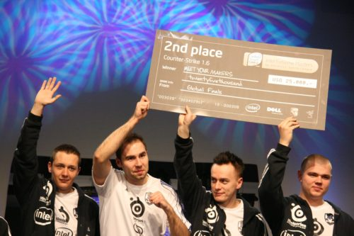 MYM raising the 2nd place check