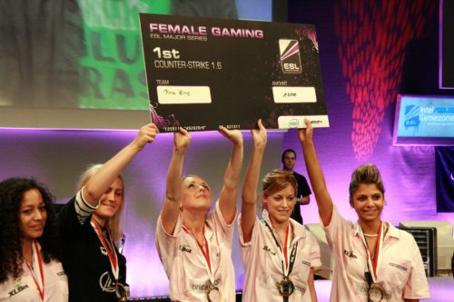 Pink Zinic with their prize check