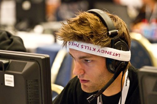 ave with his rather unusual headset