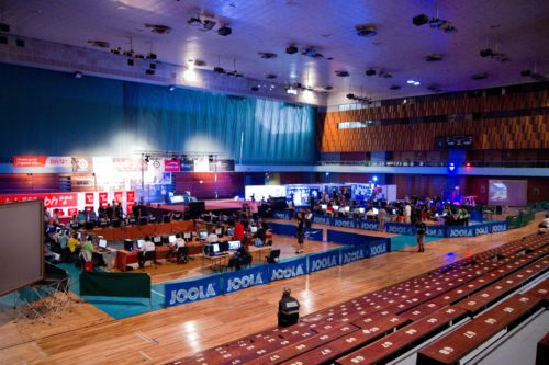 Overview of the tournament area
