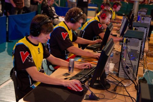 Natus Vincere playing their last game in the second group stage