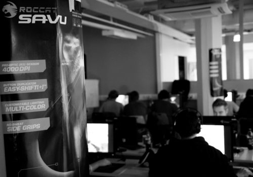 ROCCAT Savu poster and a view of the gaming area