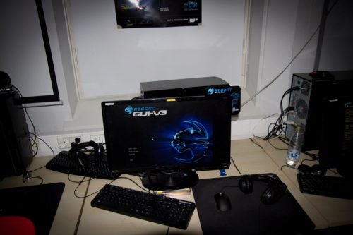 ROCCAT GUI in use at Areena #2 by ROCCAT