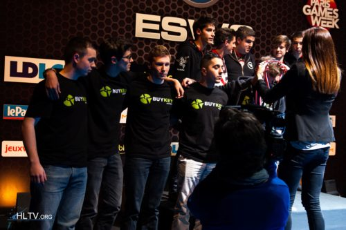 Prize ceremony taking place for ESWC France