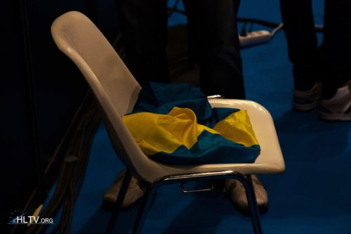 A Swedish flag left behind but not touching the ground