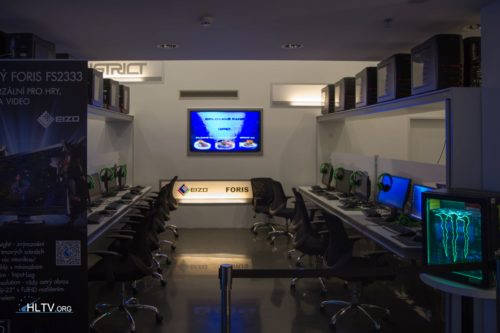 One of the playing areas at the DISTRICT E-Sports Club in Prague
