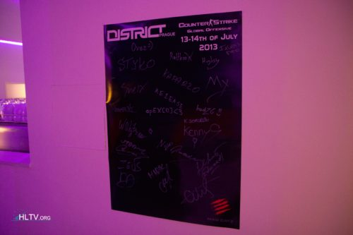 A poster signed by top four teams and tweeday