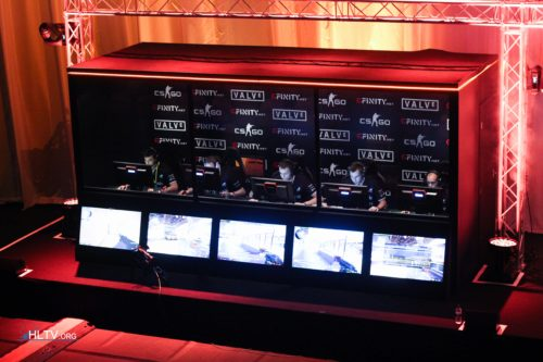 Epsilon in the booth on stage