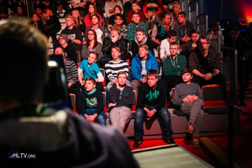 The crowd look on during Titan vs. PENTA