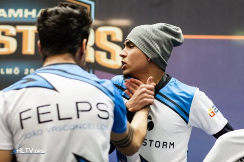 Tempo Storm celebrating a group stage win over EnVyUs