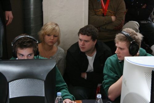 Paddy and Sunde watching ave take out Playnation.
