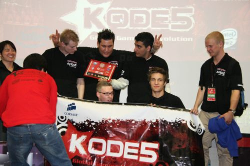 The KODE5 Global Final winners grouping up for team photo.