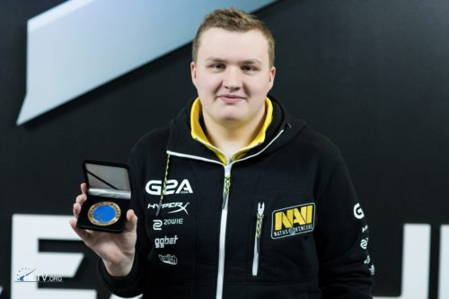 flamie with his HLTV MVP medal for DreamHack Open Leipzig 2016